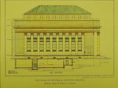 Bank of Montreal in Winnipeg, Manitoba, Canada, 1911. McKim, Mead & White. Original