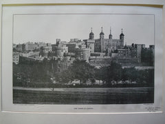 of The Tower of London, London, England, UK, 1902, Unknown