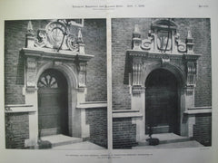 Hopkinson and Craig Doorways: University of Pennsylvania , Philadelphia, PA, 1899, Cope & Stewardson