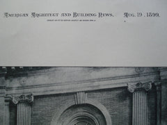Entrance Feature of the Building of the Massachusetts Historical Society, 1154 Boylston St., Boston, MA, 1899, Wheelwright & Haven