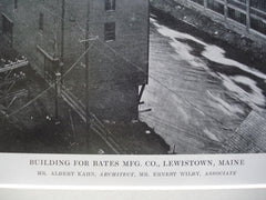 Building for Bates Mfg. Co., Lewistown, ME, 1915, Albert Kahn & Ernest Wilby