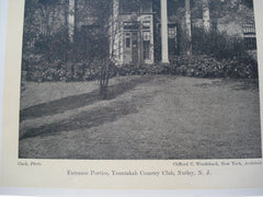 Entrance Portico, Yountakah Country Club , Nutley, NJ, 1927, Clifford C. Wendehack