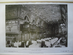Dining Room: Engineers' Club, West Fortieth Street, New York, NY, 1907, Whitfield & King