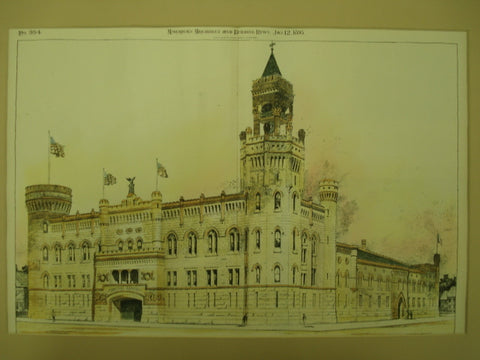 Back of the Central Armory , Cleveland, OH, 1895, Lehman & Schmitt