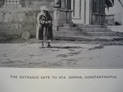 Entrance Gate to Sta. Sophia, Constantinople, 1901, Unknown