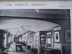 Gallery of Lounge and Auditorium of the City Club , Boston, MA, 1915, Messrs. Newhall & Blevens