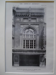 Plymouth Theatre on Eliot St., Boston, MA, 1915, Mr. C.H. Blackall