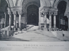Main Entrance to Osborn Hall, New Haven, CT, 1890, Bruce Price