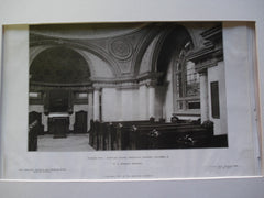 Interior View: Mortuary Chapel of Greenlawn Cemetery , Columbus, OH, 1907, F.L. Fackard