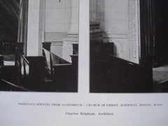Doorways Opening from Auditorium: Church of Christ, Scientist , Boston, MA, 1906, Charles Brigham