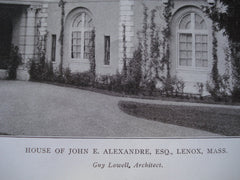 House of John E. Alexandre, Esq., Lenox, MA, 1905, Guy Lowell