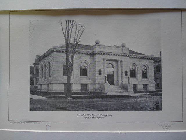 Carnegie Public Library , Goshen, IN, 1904, Patton & Miller
