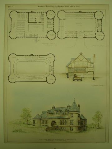 Competitive Design for the Gymnasium for Brown University , Providence, RI, 1890, Goull & Angell