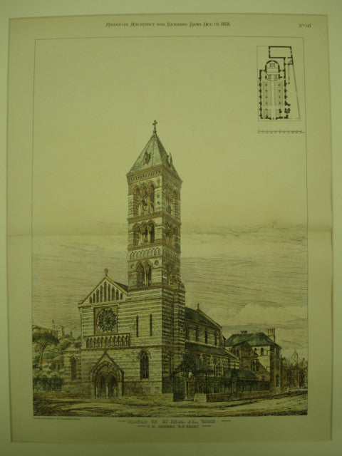 Church of St. Paul , Rome, Italy, EUR, 1878, G. E. Street