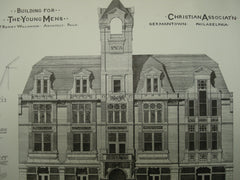 Building for the Young Men's Christian Association , Germantown, PA, 1879, T. Roney Williamson