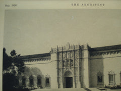 Fine Arts Building , San Diego, CA, 1926, Wm. Templeton Johnson