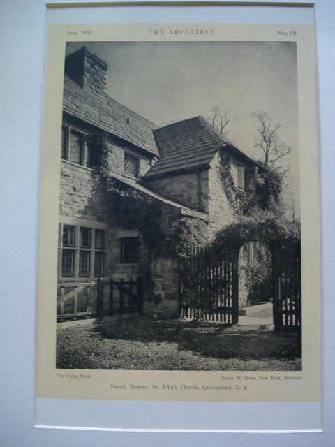 Detail of the Rectory of St. John's Church , Lattingtown, Long Island, NY, 1926, Henry W. Rowe