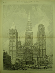 Cathedral Church of Notre Dame , Rouen, France, EUR, 1885, Not Stated