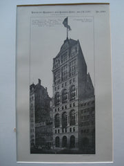 Competitive Design for the Manhattan Life Insurance Building , New York, NY, 1893, Stephen D. Hatch