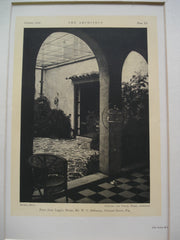Patio from Loggia in the House of W.C. DeGarmo , Coconut Grove, FL, 1926, DeGarmo and Varney