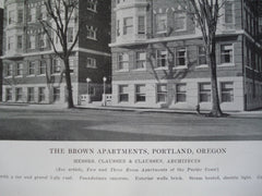 Brown Apartments , Portland, OR, 1915, Messrs. Claussen & Claussen