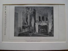 Parlor Chimneypiece in the House of Col. Charles S. Hills , St. Louis, MO, 1900, Barnett, Haynes & Barnett