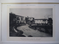 House of Mr. Milton Baruch, Los Angeles, CA, 1927, Gordon B. Kaufmann