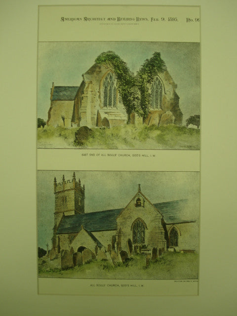 All Souls' Church in God's Hill, Isle of Wight, UK, 1895, Unknown