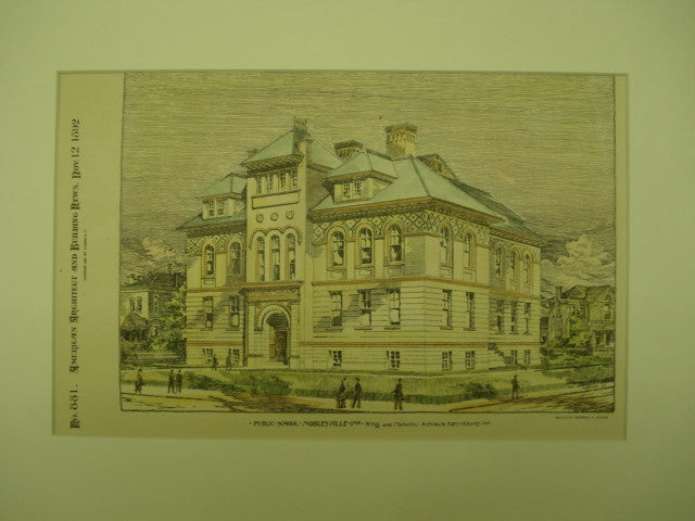 Public School , Noblesville, IN, 1892, Wing and Mahurin
