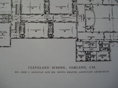 Cleveland School , Oakland, CA, 1915, Mr. John J. Donovan & Mr. Edwin Shafer