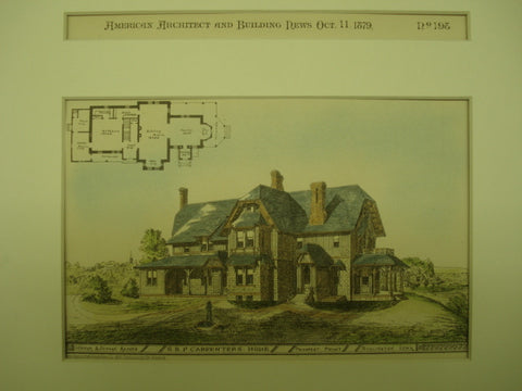 Home of G. B. P. Carpenter, Burlington, IA, 1879, Dunham & Jordan