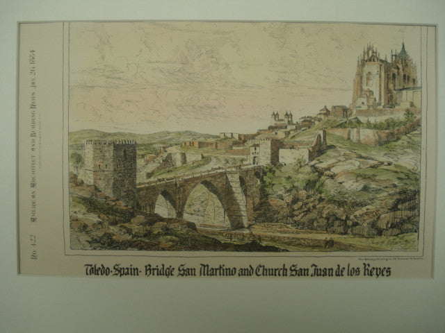 Bridge San Martino and Church San Juan de los Reyes, Toledo, Spain, EUR, 1884, Unknown