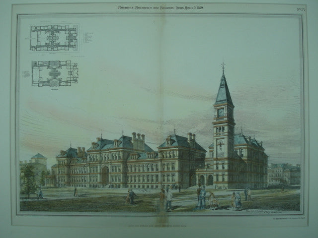 Latin and English High School Buildings , Boston, MA, 1879, Geo. A. Clough