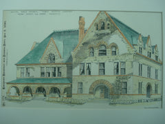 Samuel Noble Memorial Institute Dormitory, 1890, Chisolm and Green