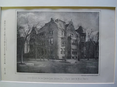 Club House for the Union Club , Chicago, IL, 1884, Messrs. Cobb & Frost
