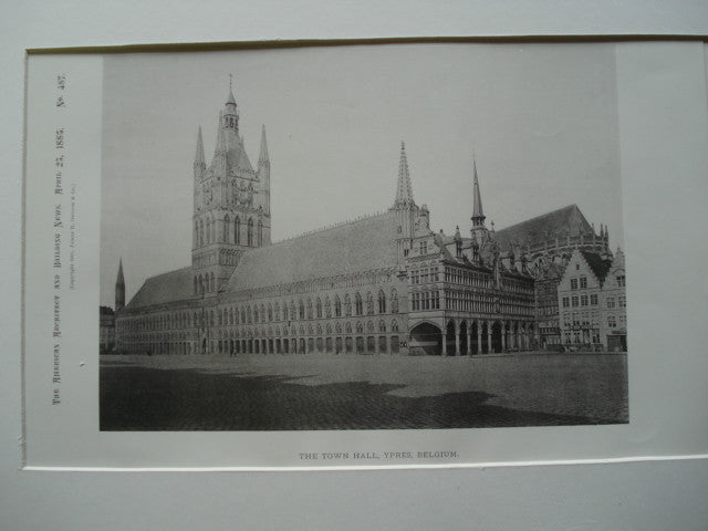 The Town Hall , Ypres, Belgium, EUR, 1885, Unknown