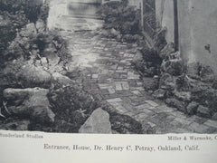 Entrance to the House of Dr. Henry C. Petray , Oakland, CA, 1930, Miller & Warnecke