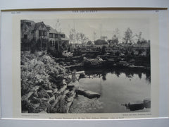 Water Garden for the Residence of C.M. Day, Esq., Jackson, MI, 1930, Beckett and Akitt