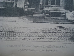House of Edward Reese, Esq., Baltimore, MD, 1887, J.A. & W.T. Wilson