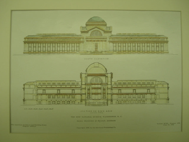 New National Museum , Washington, DC, 1908, Hornblower & Marshall