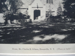 House for Mr. Charles R. Gibson , Bronxville, NY, 1927, Lewis Bowman