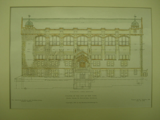 Gymnasium for the College of New York , New York, NY, 1908, George B. Post & Sons