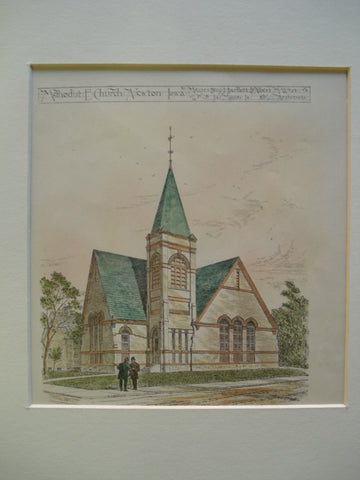 Methodist E. Church, Newton, IA, 1900, Messrs. Benj. J. Bartlett & Albert M. West