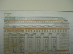 Elevation of the New Masonic Temple , Washington, DC, 1908, Wood, Donn & Deming