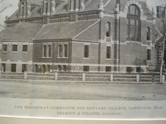 Hemenway Gymnasium for Harvard College, Cambridge, MA, 1880, Peabody & Stearns