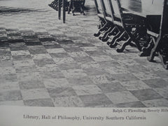 Library, Hall of Philosophy in the University of Southern California, Los Angeles, CA, 1930, Ralph C. Flewelling