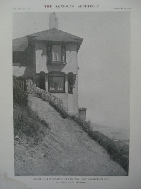 House of Livingston Jenks, Esq., San Francisco, CA, 1915, Mr. Myron Hunt