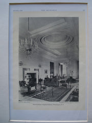 Drawing Room for the English Embassy , Washington, DC, 1930, Sir. Edwin Lutyens