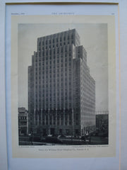 Ninety-Five Williams Street Telephone Co., Newark, NJ, 1930, Voorhees, Gmelin & Walker