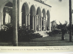 Exterior Detail, Residence of S.E. Thomason, Esq., Davis Islands, Tampa, FL, 1930, Franklin O. Adams & J.M. Hamilton